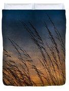 Prairie Grass Sunset Patterns Duvet Cover