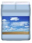 Prairie Landscape Alberta Canada Duvet Cover