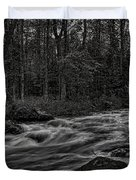 Prairie River Whitewater Black And White Duvet Cover