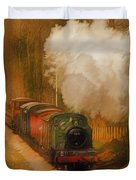 Prairie Train Duvet Cover by Skye Ryan-Evans