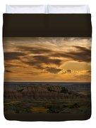 Prairie Wind Overlook Badlands South Dakota Duvet Cover