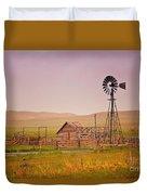 Prairie Windmill Duvet Cover