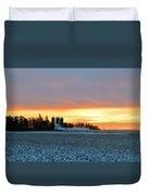 Prairie Winter Sunrise Duvet Cover