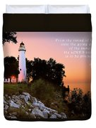 Praise His Name Psalm 113 Duvet Cover by Michael Peychich