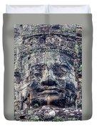 Prasat Bayon Stone Face  Duvet Cover