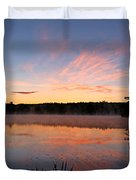 Prat Pond Morning Duvet Cover
