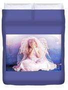 Praying Angel Duvet Cover