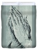 Praying Hands, Also Known As Study Of The Hands Of An Apostle  Duvet Cover