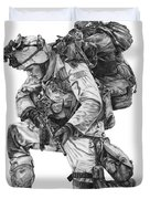 Praying Soldier Duvet Cover