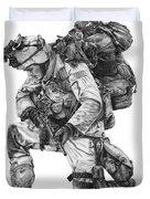 Praying Soldier Duvet Cover