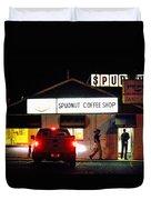 Pre-dawn Spudnut Run Duvet Cover