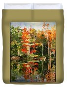 Prentiss Pond, Dorset, Vt., Autumn Duvet Cover