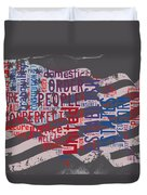 Preamble To The Constitution On Us Map Duvet Cover