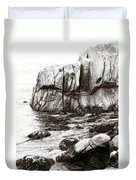 Precarious At Pebble Beach Duvet Cover