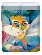 Preciada Azancot Self-portrait With A Dove Duvet Cover