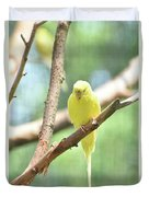 Precious Little Yellow Parakeet In The Wild Duvet Cover