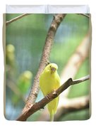 Precious Yellow Budgie Parakeeet In The Wild Duvet Cover