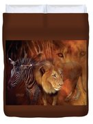 Predator And Prey Duvet Cover