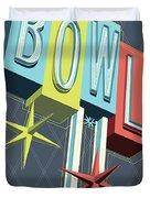 Premiere Lanes Bowling Pop Art Duvet Cover