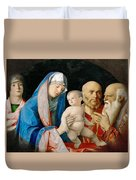 Presentation Of Christ In The Temple Duvet Cover