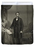 President Abraham Lincoln Duvet Cover by International  Images