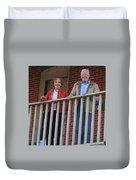 President And Mrs Carter On Plains Inn Balcony Duvet Cover