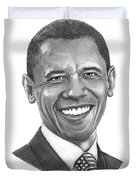 President Barack Obama By Murphy Art. Elliott Duvet Cover