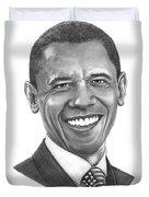 President Barack Obama By Murphy Art. Elliott Duvet Cover