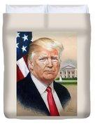 President Donald Trump Art Duvet Cover