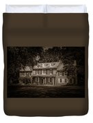 President James Buchanan's Wheatland In Sepia Duvet Cover