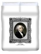 President John Adams Portrait  Duvet Cover by War Is Hell Store