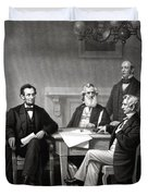 President Lincoln And His Cabinet Duvet Cover
