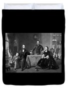 President Lincoln And His Family  Duvet Cover by War Is Hell Store