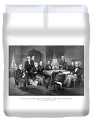 President Lincoln His Cabinet And General Scott Duvet Cover