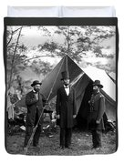 President Lincoln Meets With Generals After Victory At Antietam Duvet Cover
