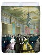 President Lincoln's Last Reception Duvet Cover