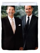President Reagan And George H.w. Bush - Official Portrait  Duvet Cover