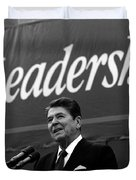 President Ronald Reagan Leadership Photo Duvet Cover