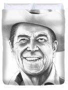President Ronald Regan Duvet Cover