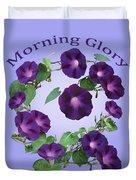 President Tyler Morning Glory Duvet Cover