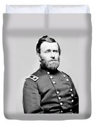 President Ulysses S Grant In Uniform Duvet Cover by International  Images