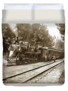 President William Mckinleys Presidential Locomotive No. 1456  May 1901 Duvet Cover