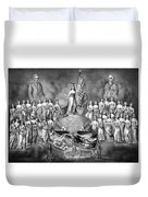 Presidents Washington And Jackson Duvet Cover by War Is Hell Store