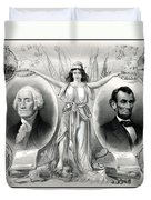 Presidents Washington And Lincoln Duvet Cover