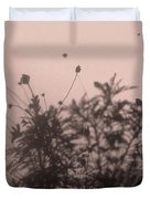 Pressed Daisy Bush Pink Duvet Cover
