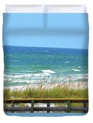 Pretty Blue Gulf Duvet Cover