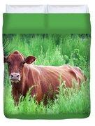 Pretty Brown Cow  Duvet Cover