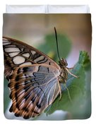 Pretty Butterfly Resting On The Leaf Duvet Cover