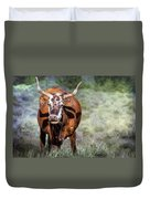 Pretty Female Cow With Horns Duvet Cover