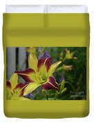 Pretty Flowering Lily In A Garden  Duvet Cover